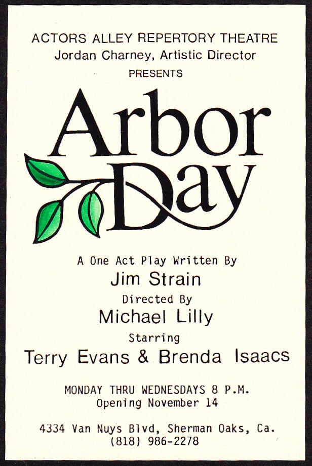 Arbor Day Theatre Poster