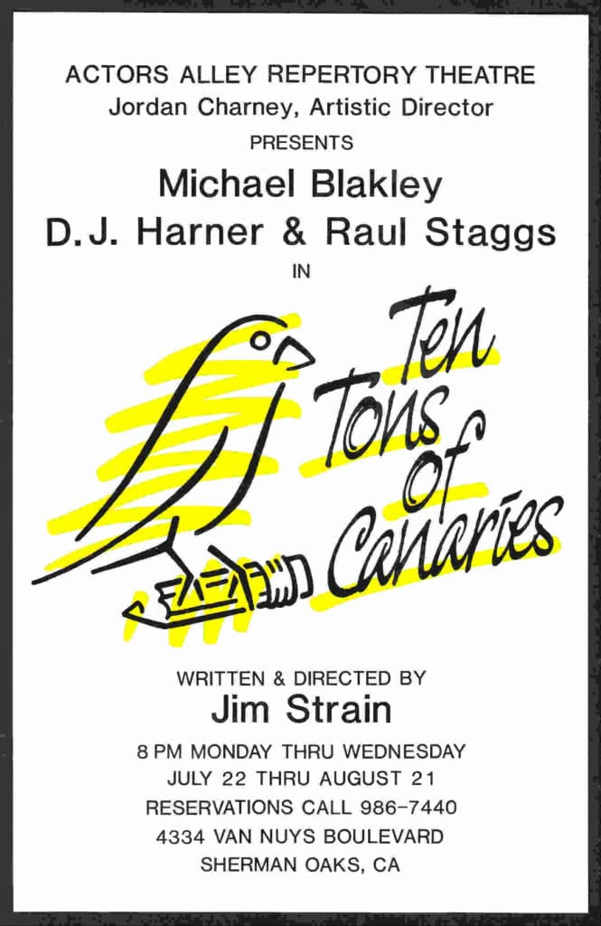 Ten Tons of Canaries Theatre Poster 168 kbs